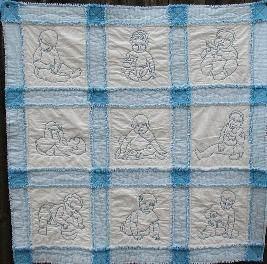 Babyland Block - BLB - Quilt Blue Rag