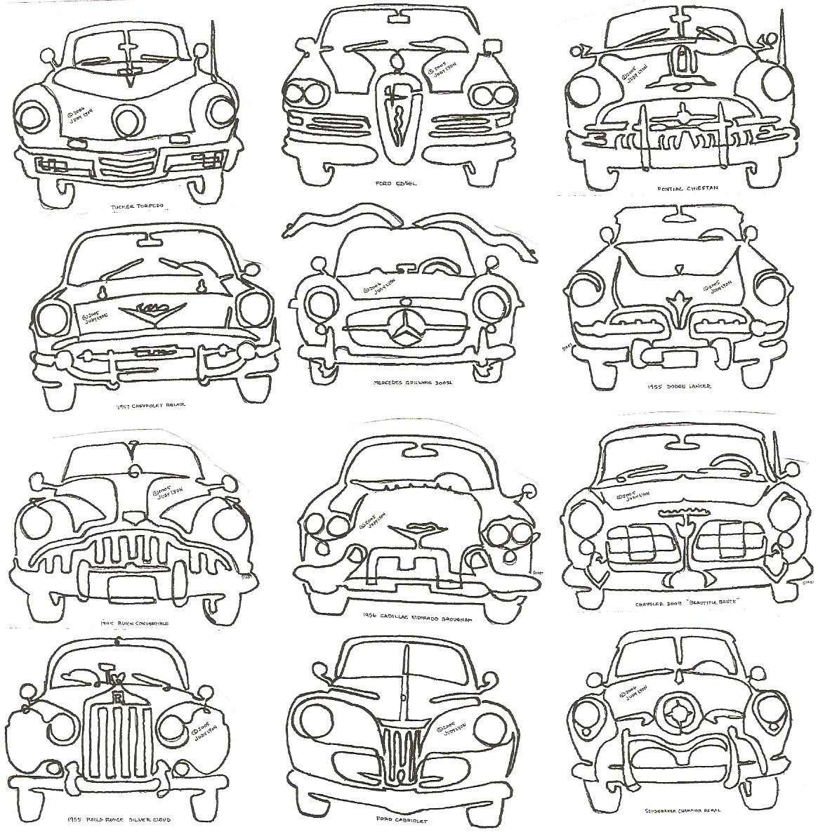 Car Classics Block - CCB - Collection of 12