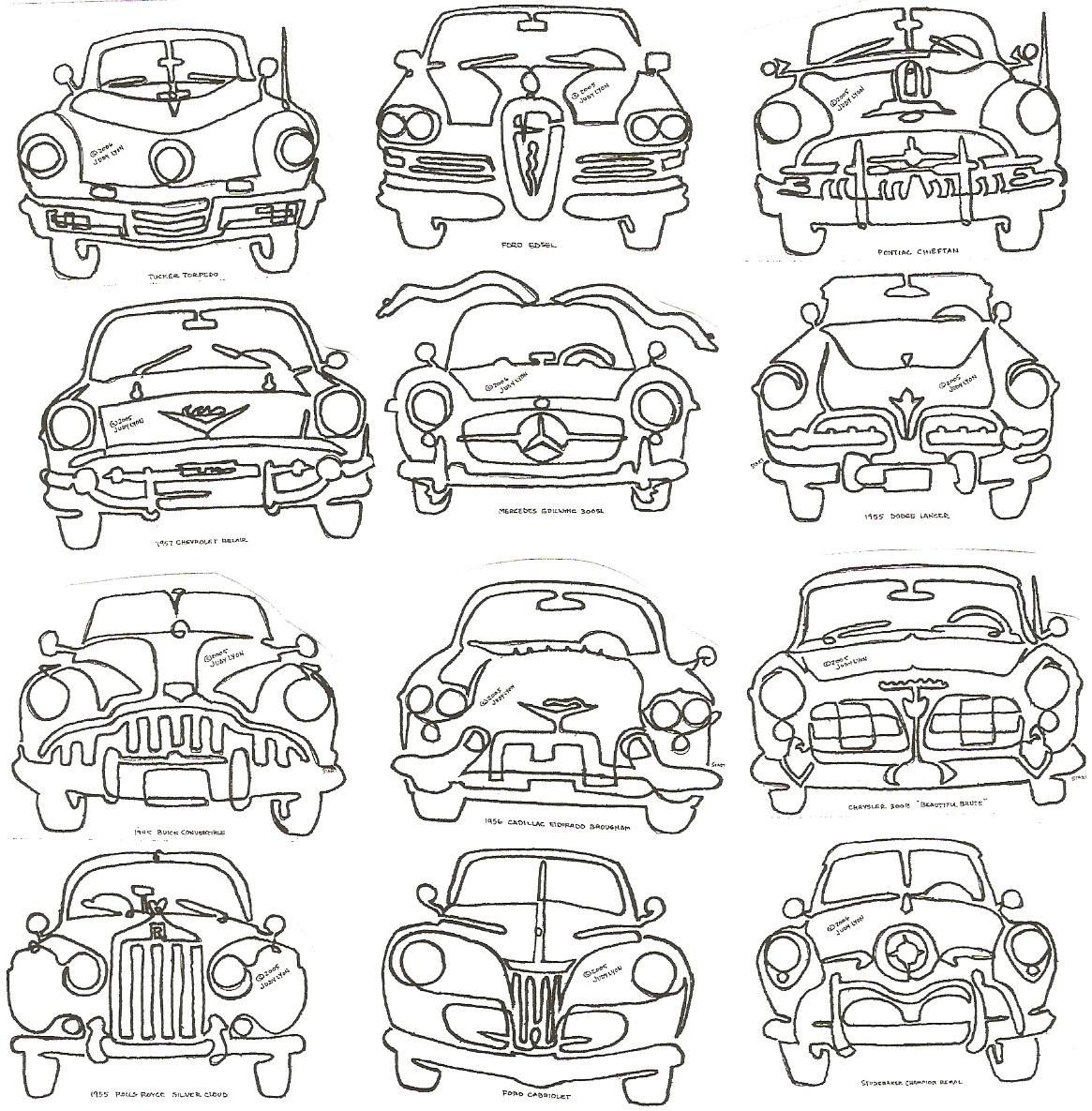 """Car Classics 8"""" Pictogram"""