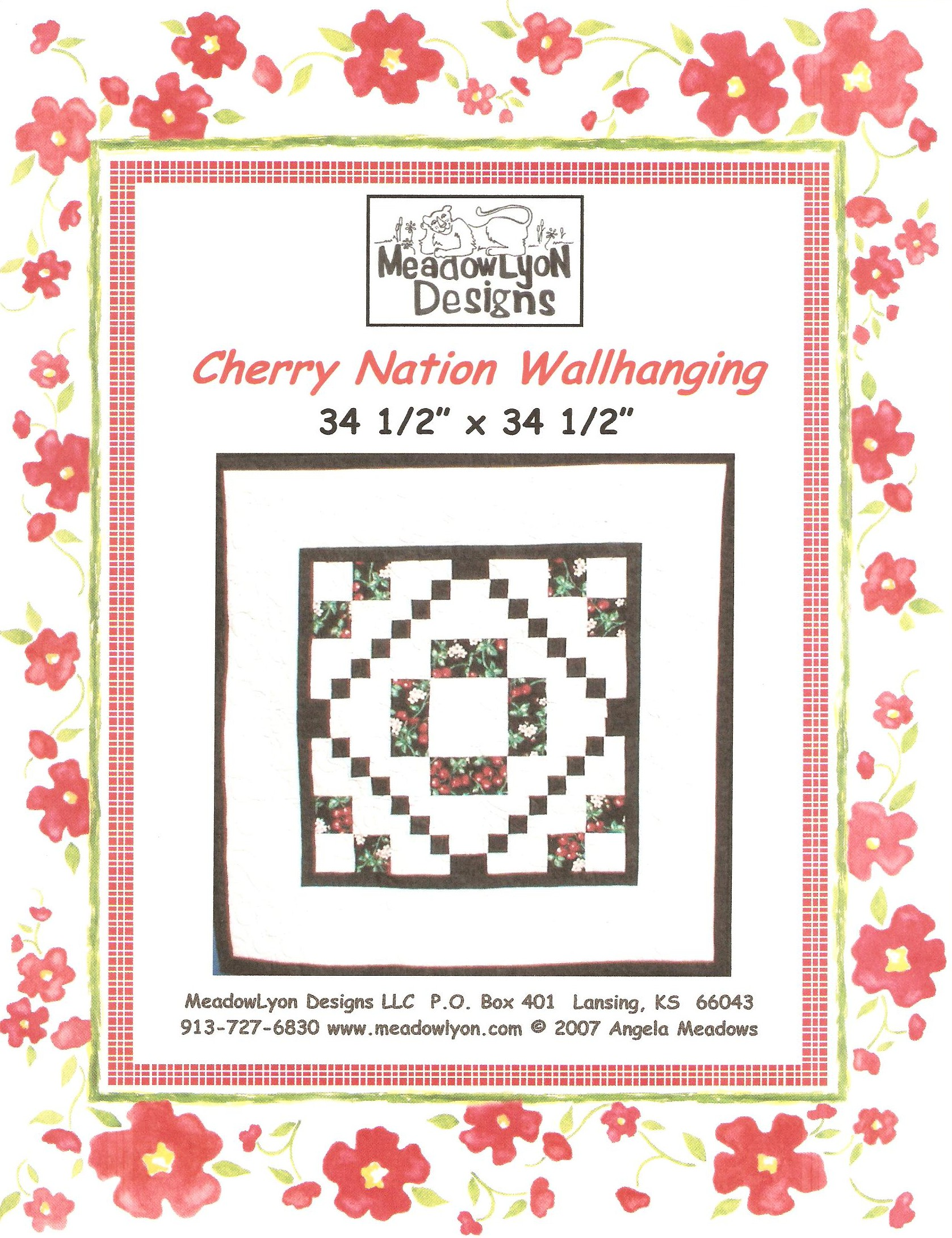 Cherry Nation Quilt - Cover