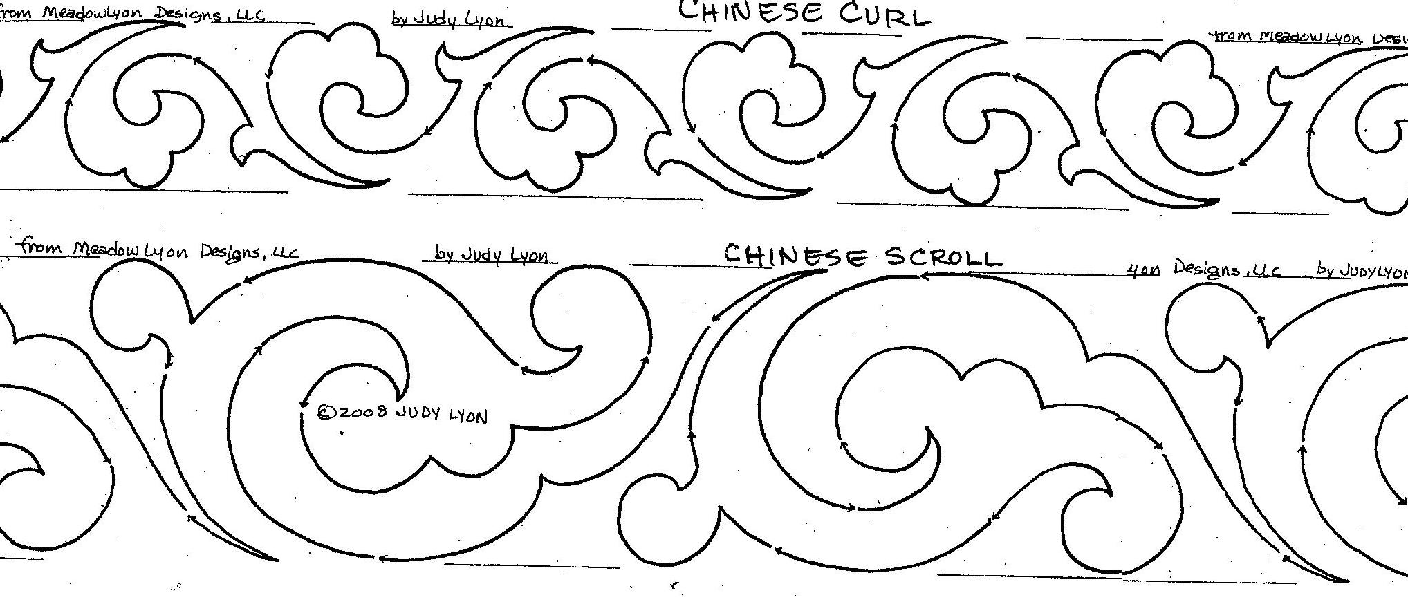 Chinese Scroll Border