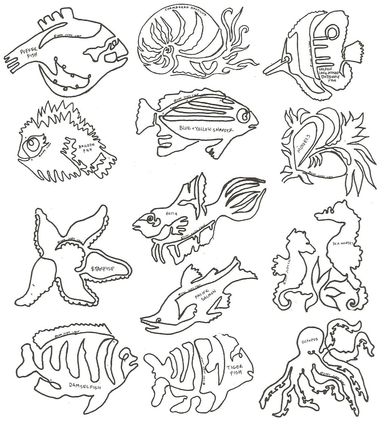Fishy Business Block 1 - FBB1 - Collection of 12