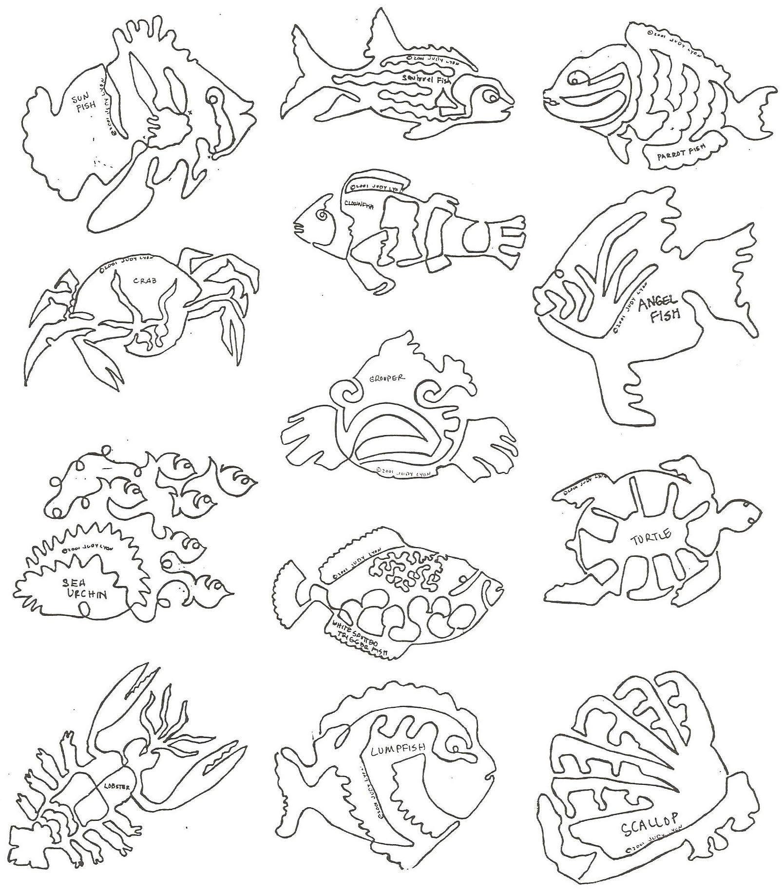 Fishy Business Block 2 - FBB2 - Collection of 12