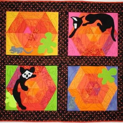 Kitty Cat S Cradle Quilt Meadowlyon Designs
