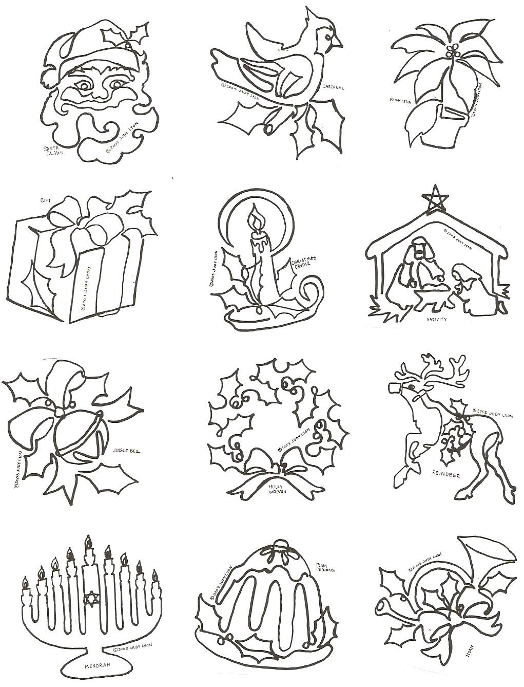 Symbols of the Season Block - SofSB - Collection of 12