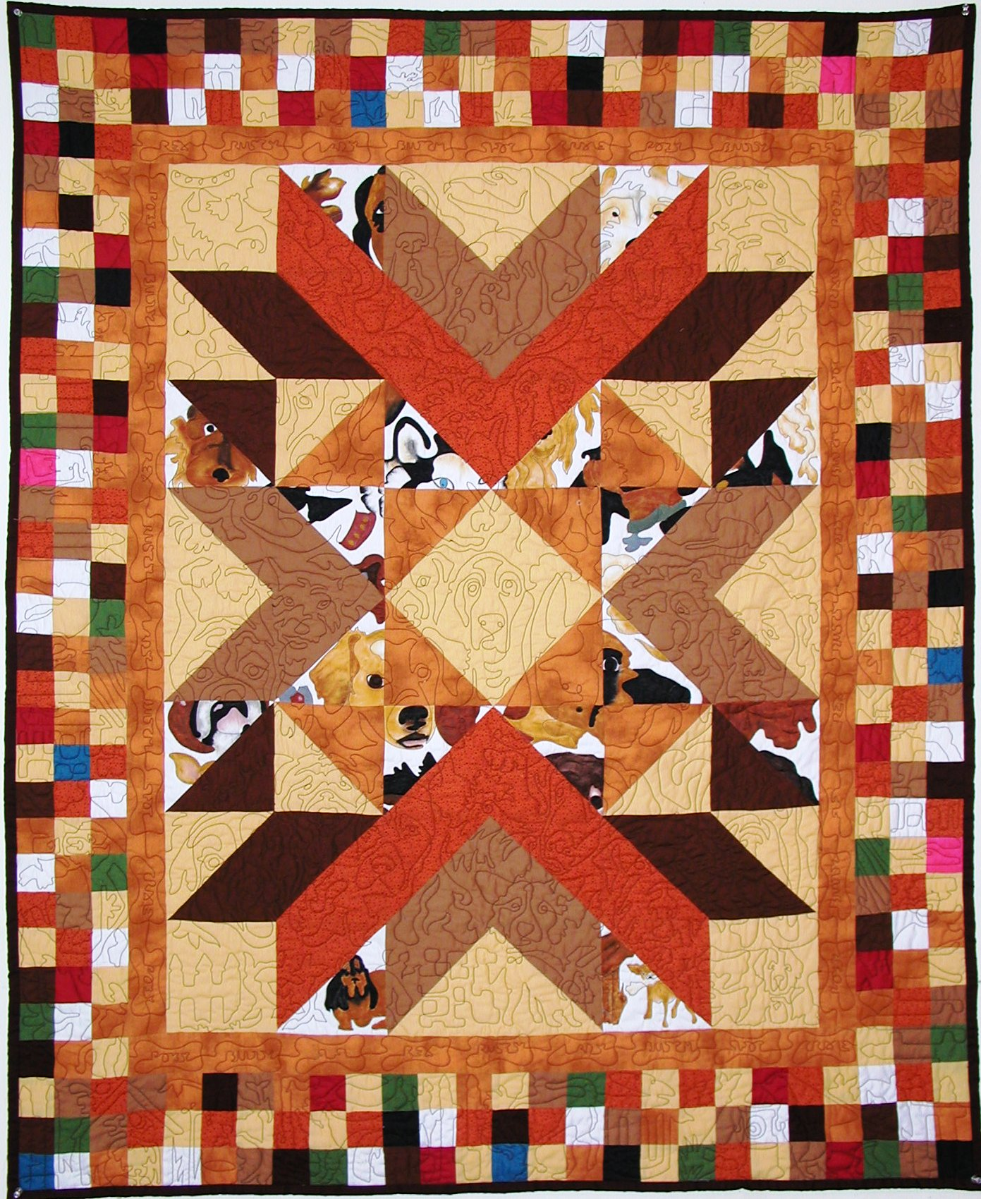 Dog Patch Quilt by MeadowLyon
