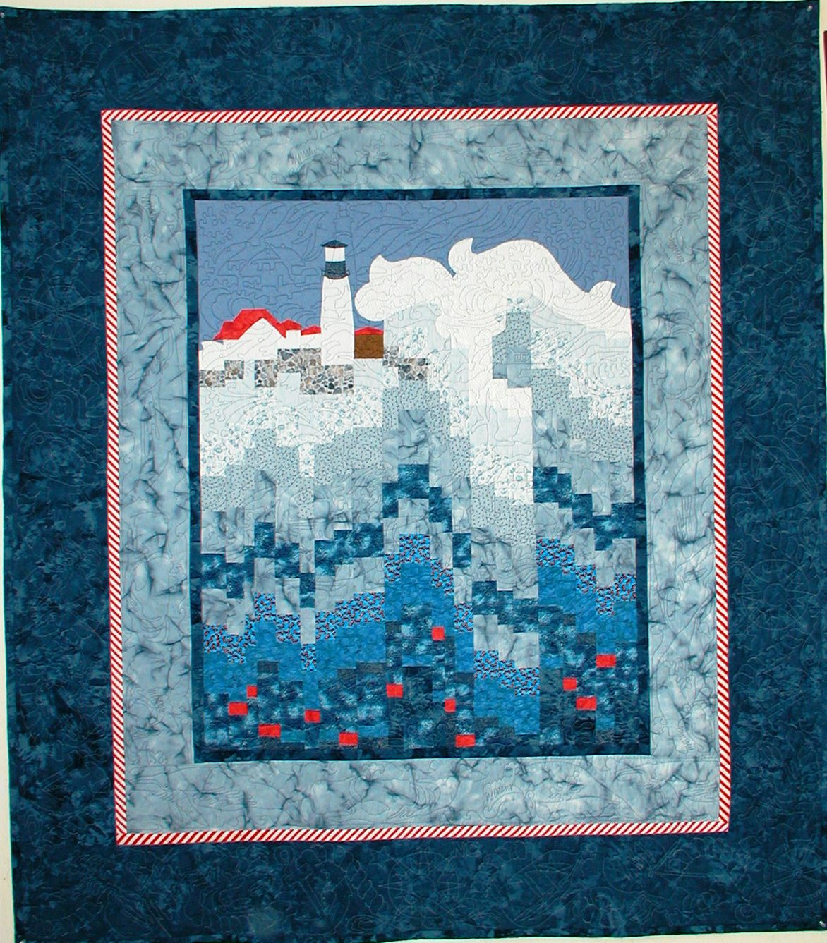 """It's Gonna Blow""-Nor'easter quilt by Judy Lyon quilting by Angela Meadows"