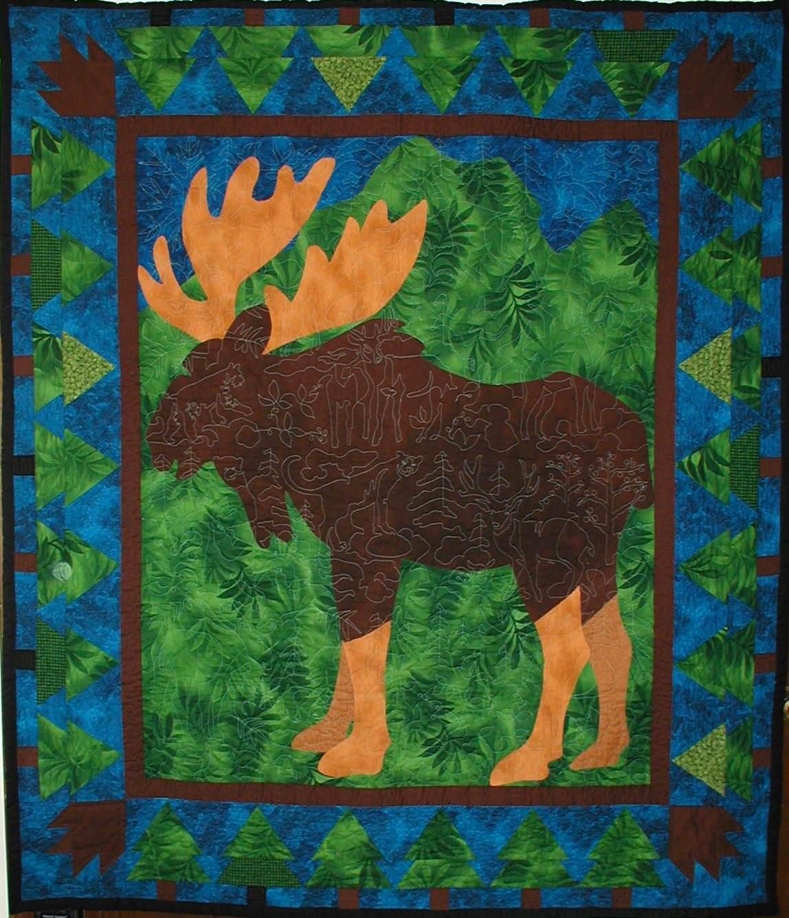 backwoods Moose quilt