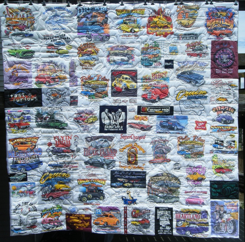 Blank Hospital, DM, IA and Good Guy Rod and Custom Asso. fund raiser car quilt - quilted by Debra Rolek