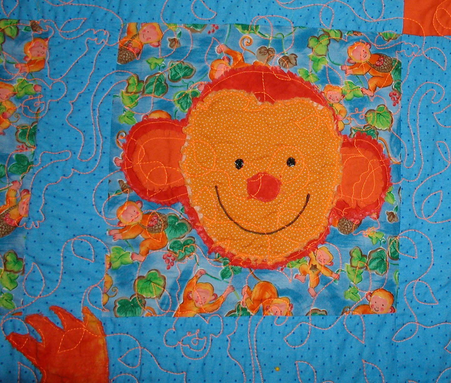 Monkey Fun Block Close-up