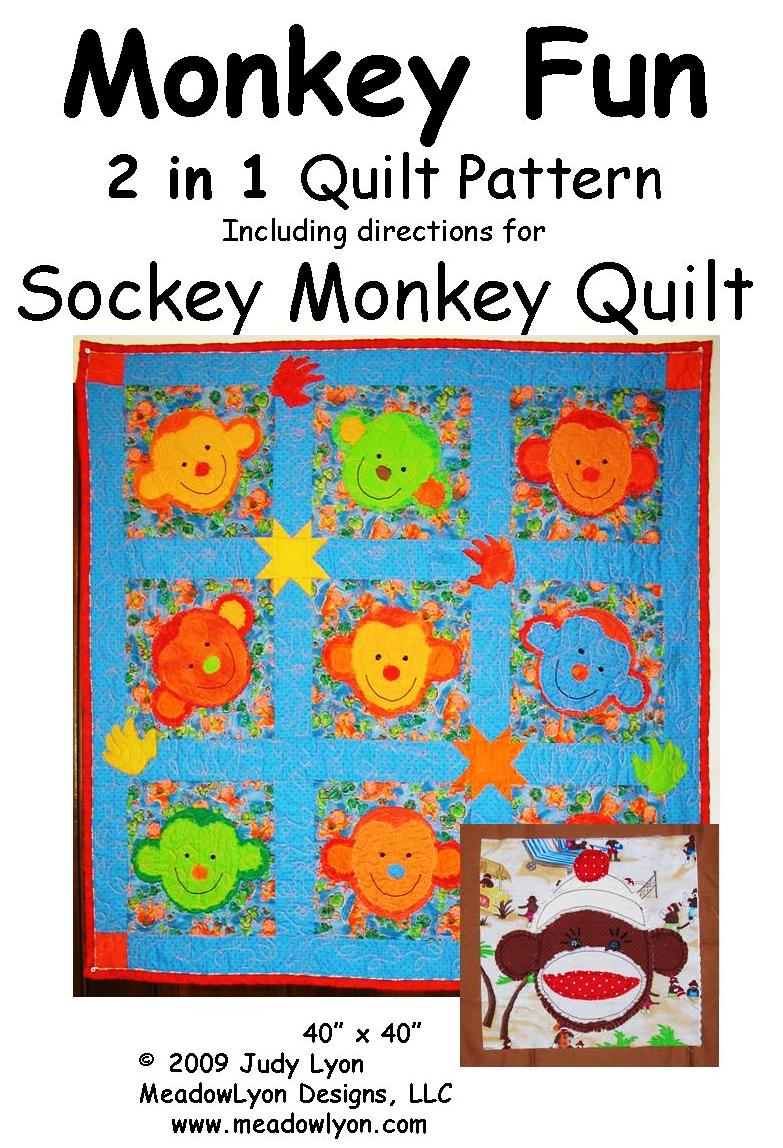 Monkey Fun Quilt with Sockey Monkey variation