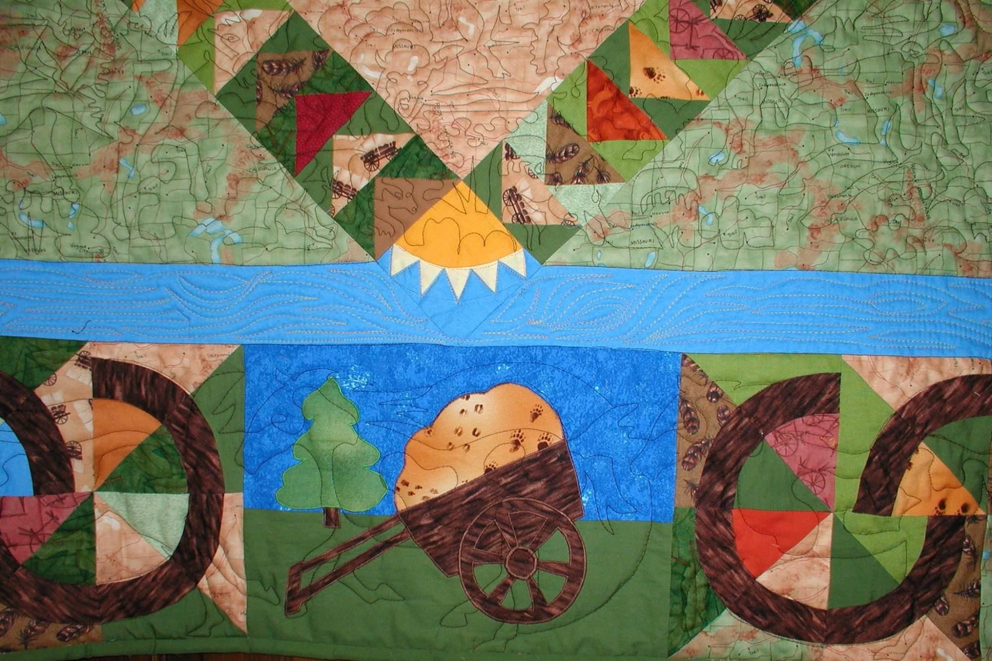 Westward Ho border showing mustang stitching