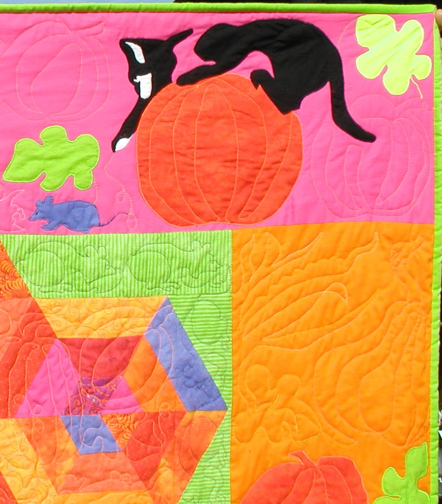 PUMPKIN PATCH KALEIDOSCOPE Close-up showing Toplique