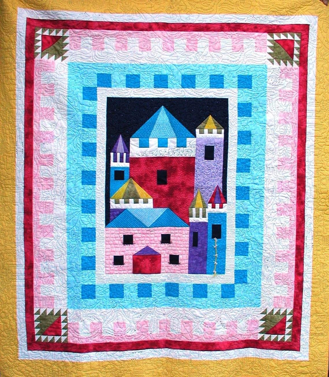 Dancing Princesses Castle Fantasy 10 Edge To Edge Border Pattern
