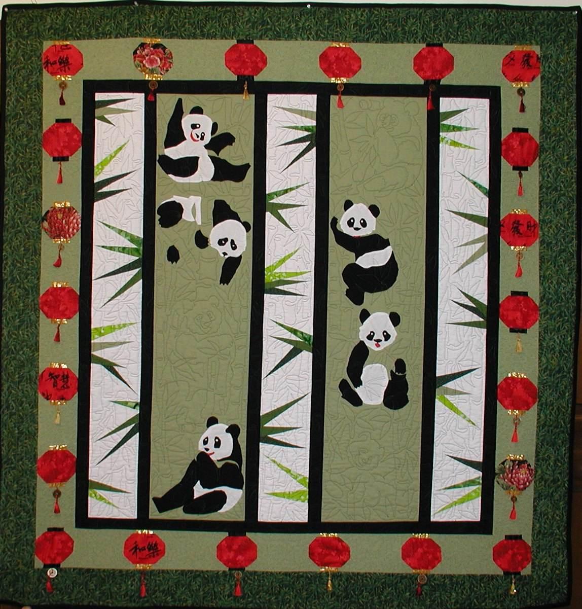 12 Chinese Pandas Set | MeadowLyon Designs : chinese quilt patterns - Adamdwight.com