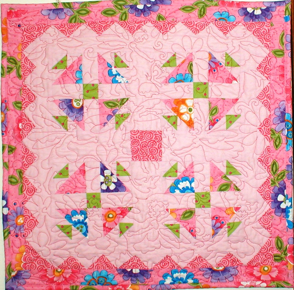 Fairy Blossoms sample quilt