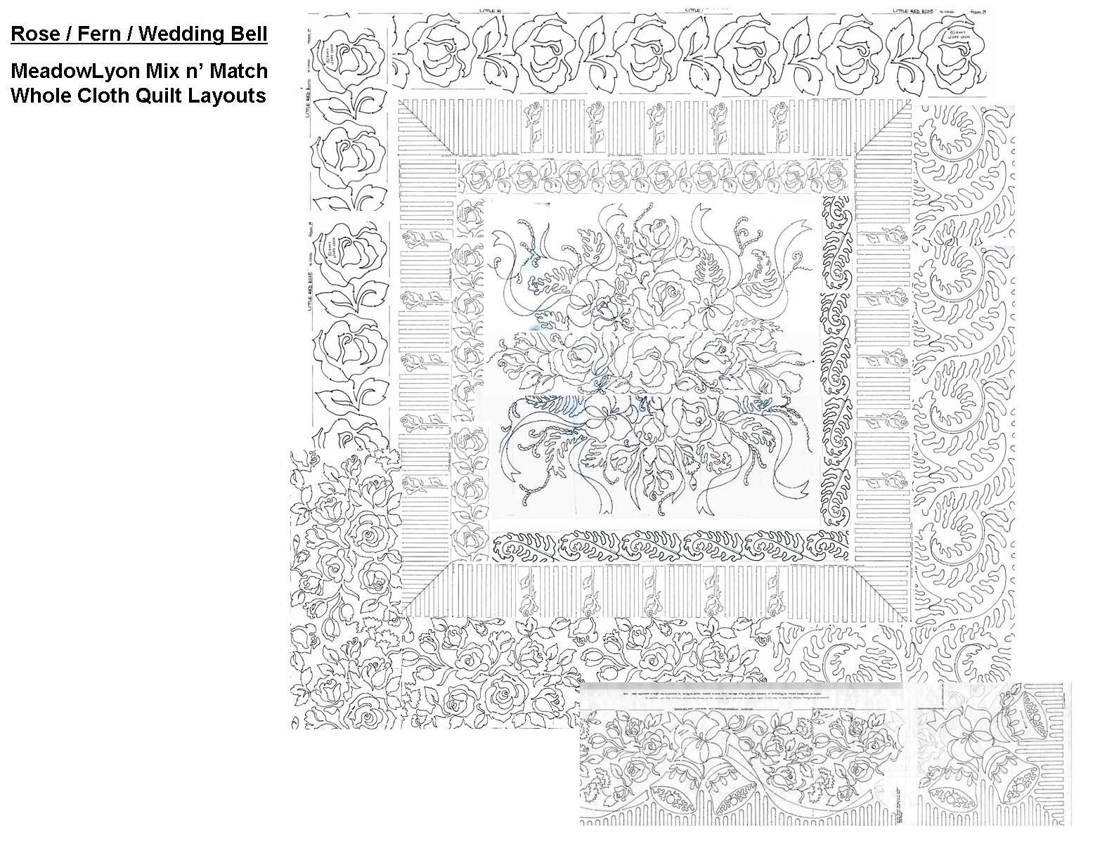 rose whole cloth layout ideas