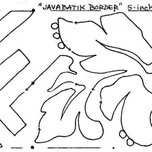 java batik border snippet