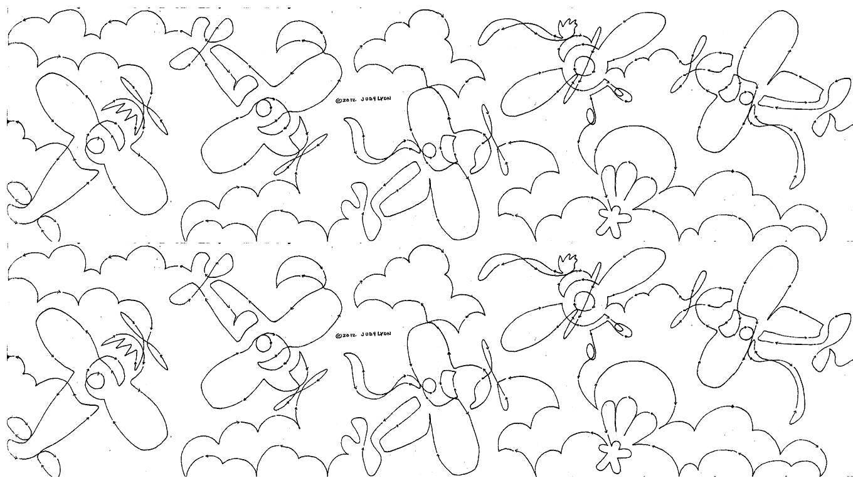 Air Show 10 Edge To Edge Pantograph Meadowlyon Designs