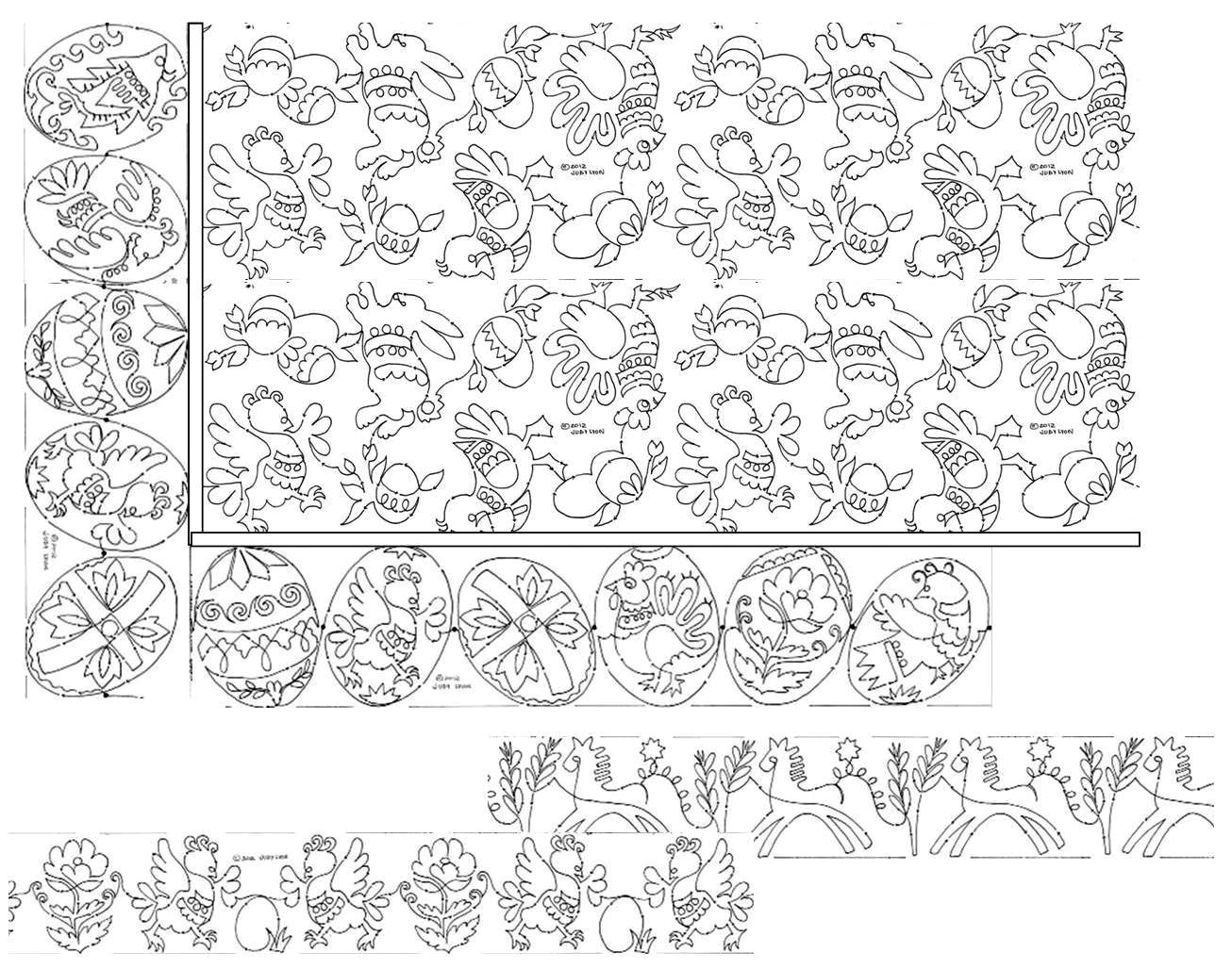 easter fun layout ideas with borders