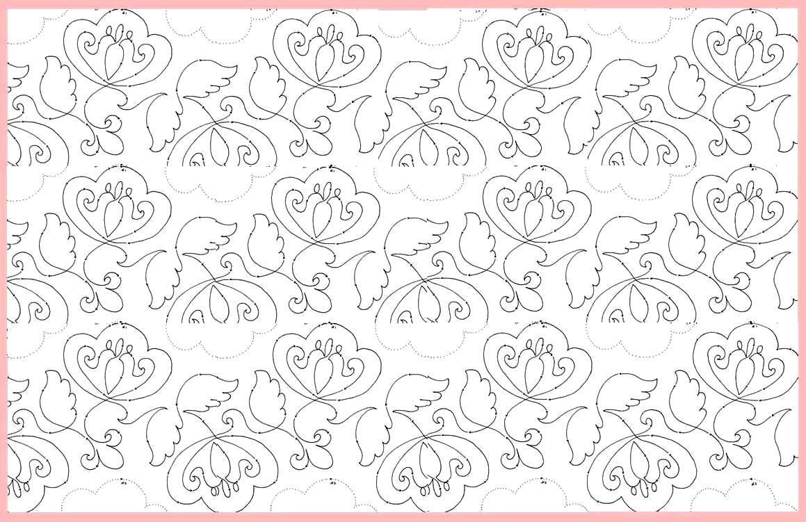 pysanki flower layout pink