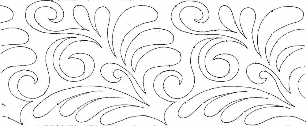 Americana Flourish 10? Edge-to-Edge Pantograph | MeadowLyon Designs : pantograph patterns for quilting - Adamdwight.com