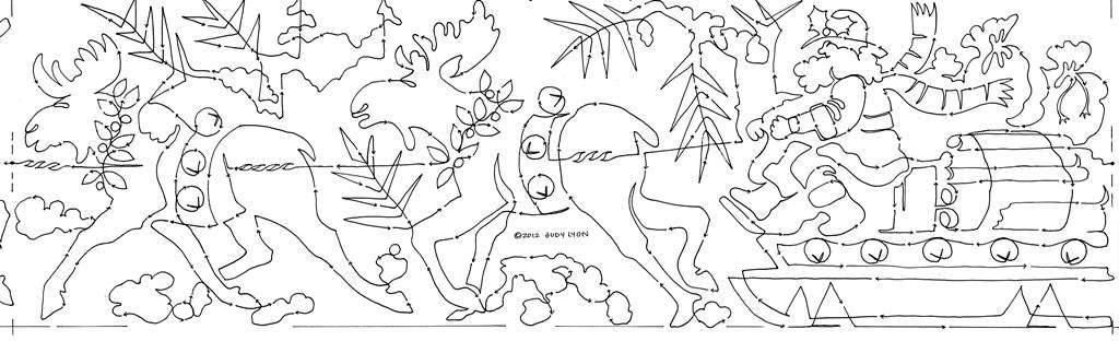 Rustic-Santas-northwoods-sleigh