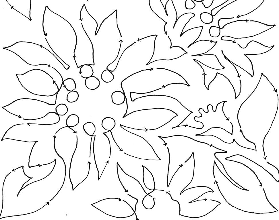 Sunflowers 2267 10 Edge To Edge Pantograph Meadowlyon