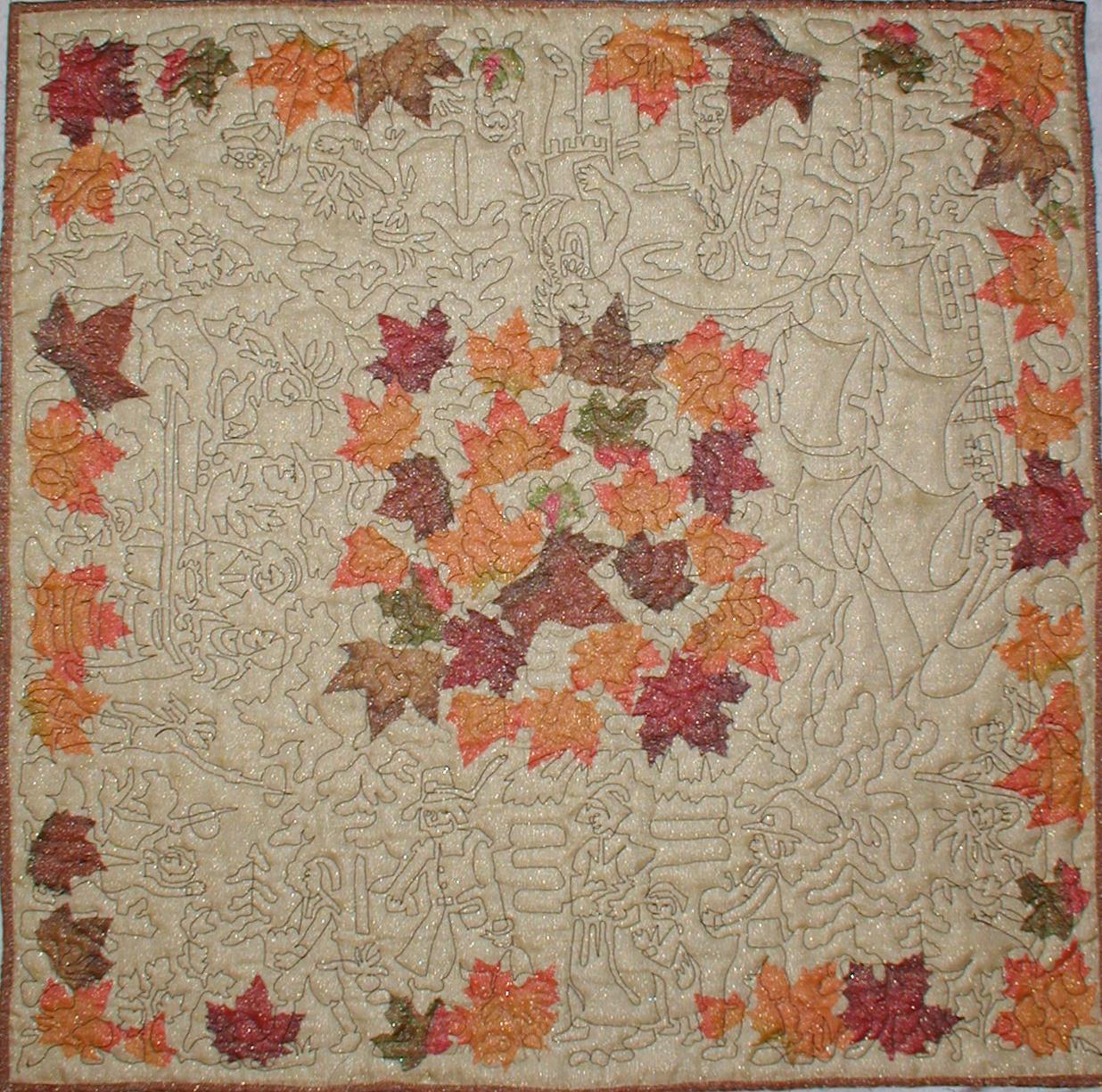 Thanksgiving Table Topper Quilt Design Meadowlyon Designs