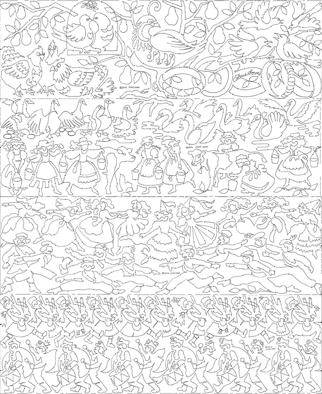 Twelve Days Of Christmas Coloring Pages (50 Images) - Class Teacher