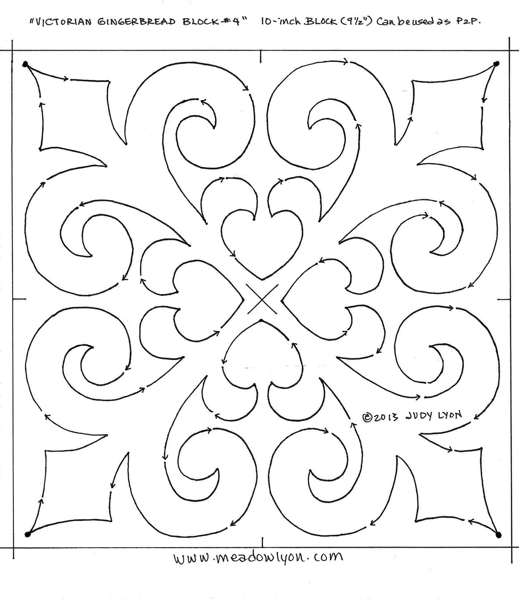 Victorian Gingerbread Border KC block 4