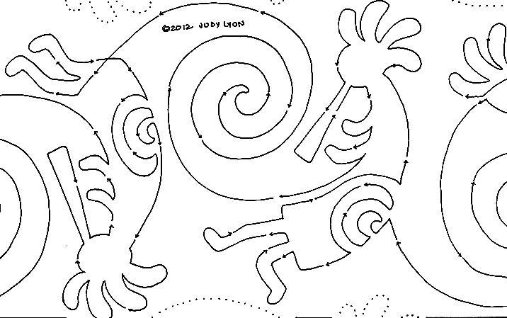 Spinning Kokopelli 1437 10 Interlocking Pantograph
