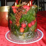 Christmas Greenery Ice Candle
