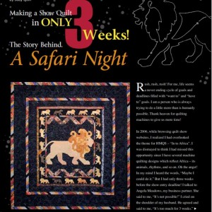 Safari Night Cover page
