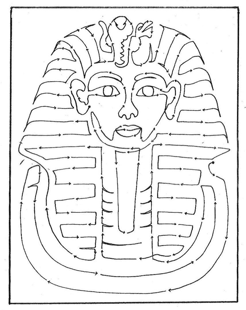 Egyptian mask coloring pages pictures to pin on pinterest for Egyptian masks templates