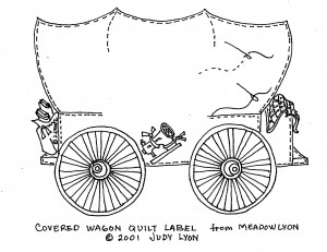 covered wagon label
