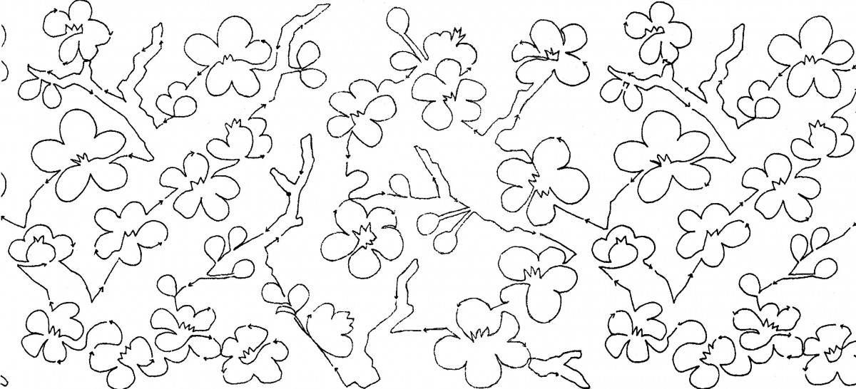 Cherry Blossoms 10 Edge To Edge Pantograph Meadowlyon