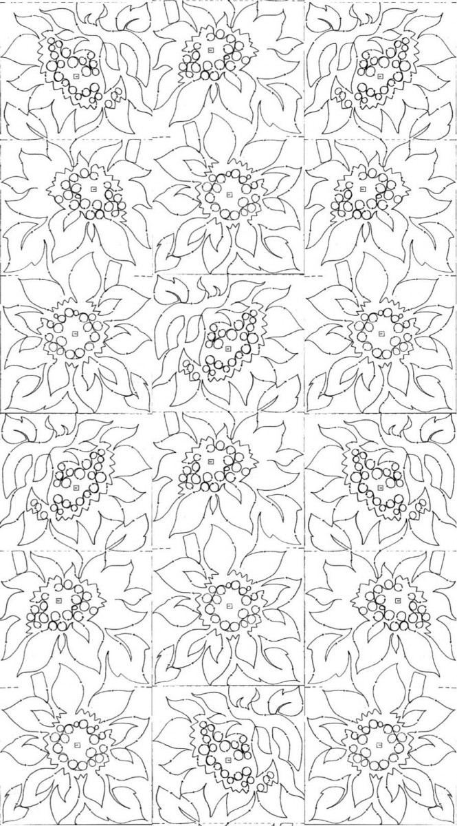 Giant Sunflower Border E2e 10 2454 Meadowlyon Designs