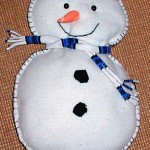 cuddly snowman pillow